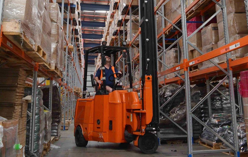Bendi Narrow Aisle Articulated Forklift