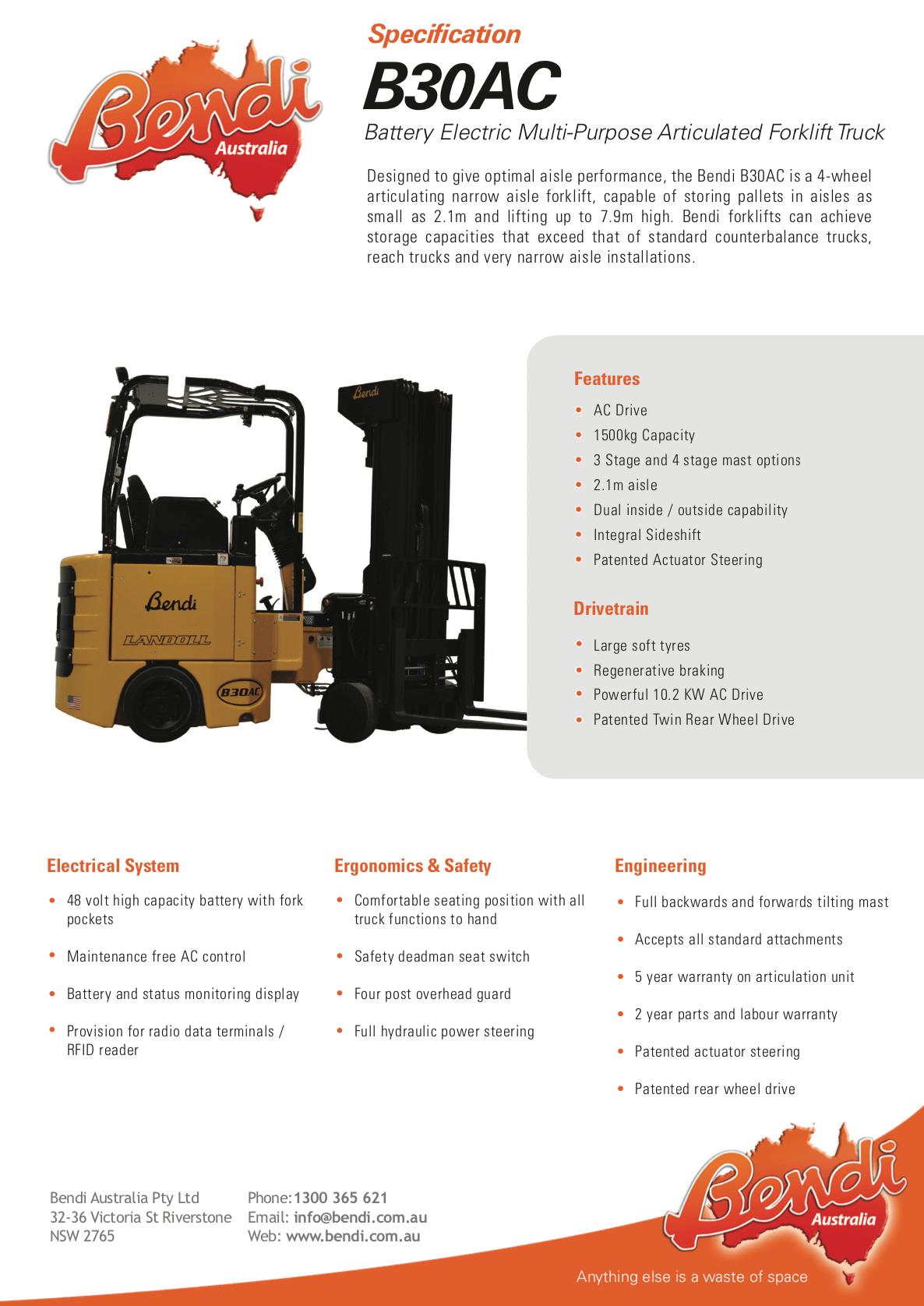B30AC Forklift