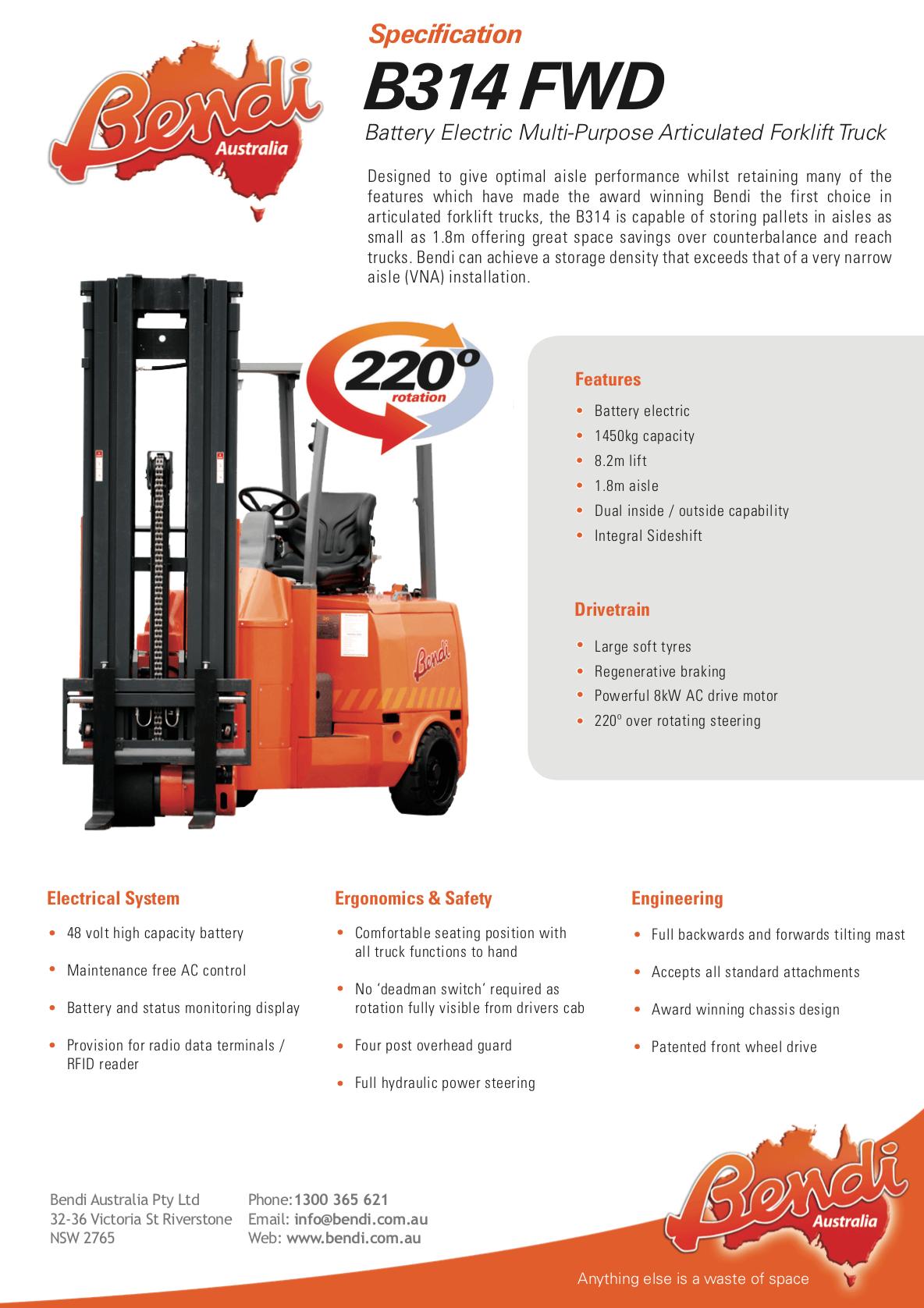 B314 FWD Forklift