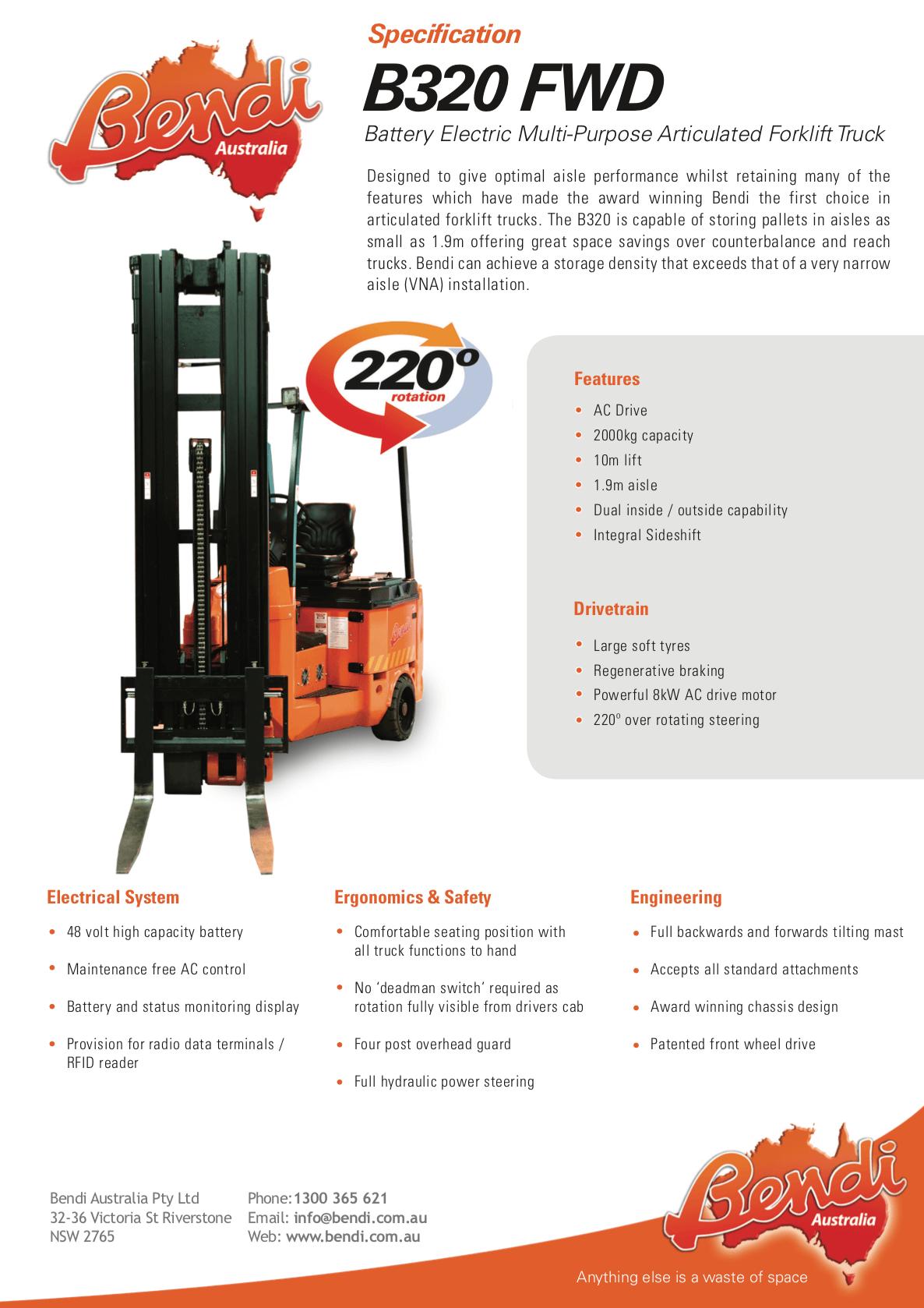 B320 FWD Forklift