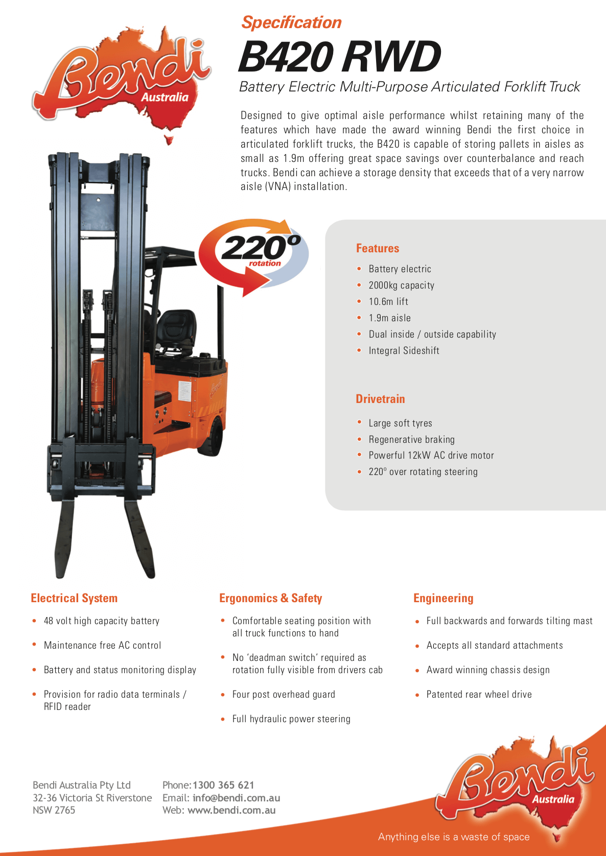 B420 RWD Forklift