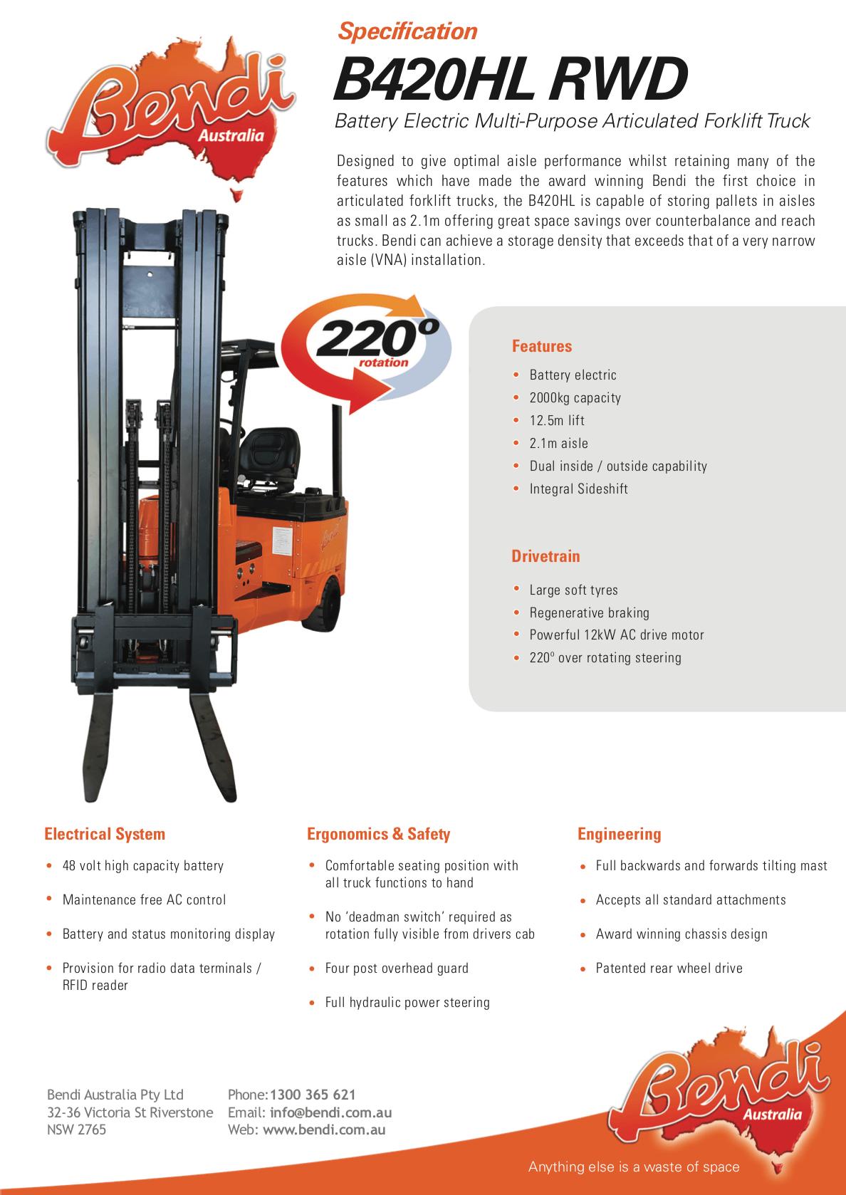 B420HL RWD Forklift