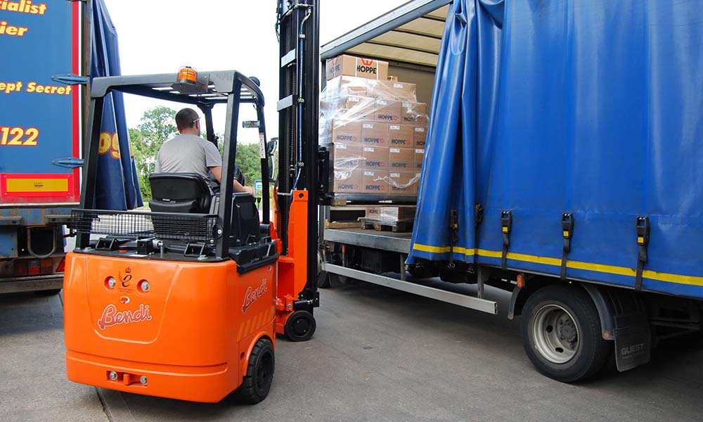 Bendi Forklift Outside